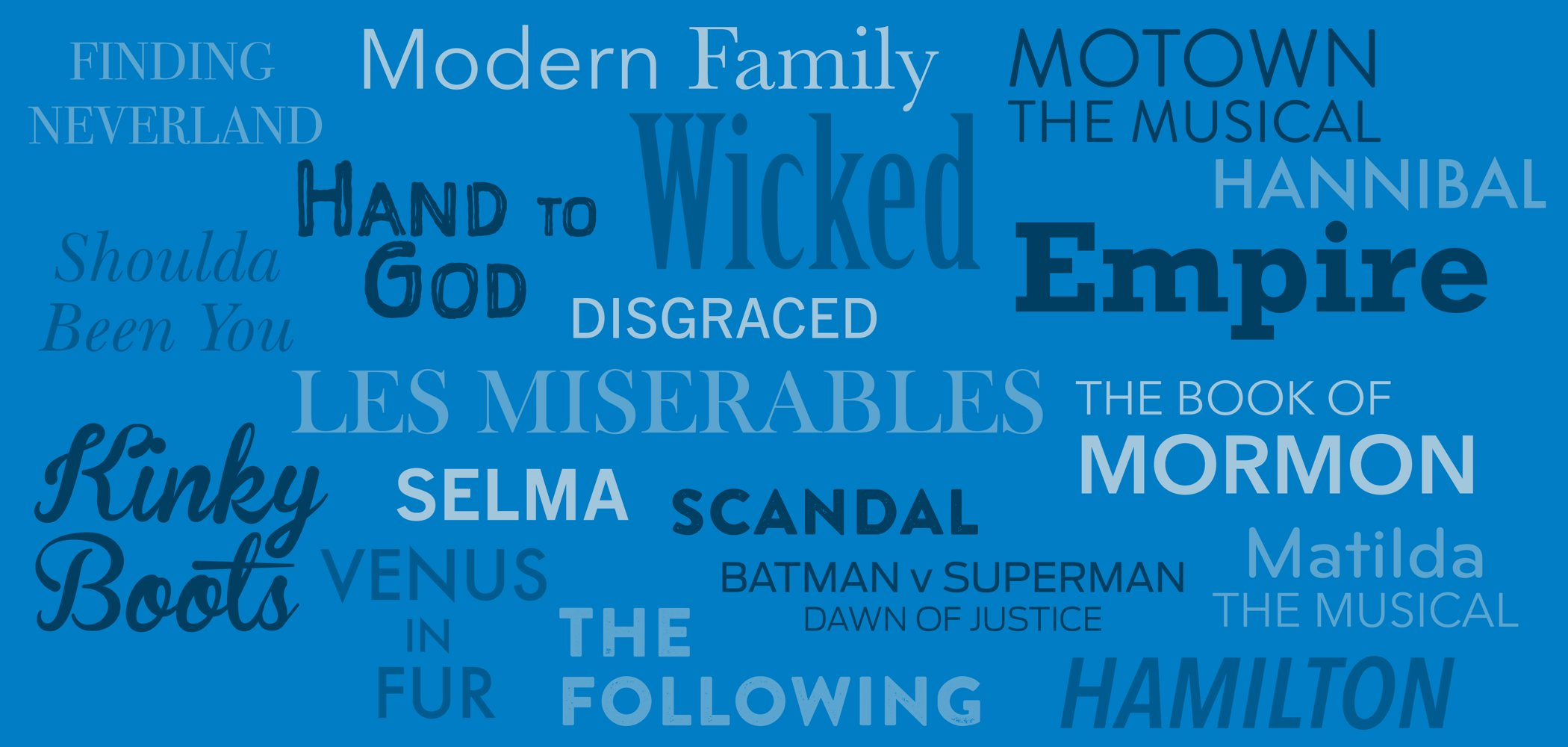 Collage of show names