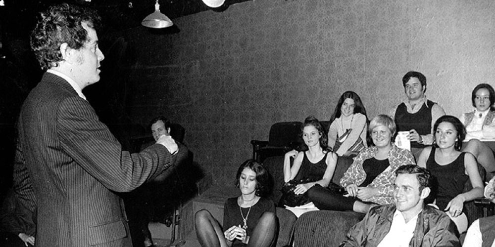 Artistic Director David Martin instructing AMDA students. (1968)