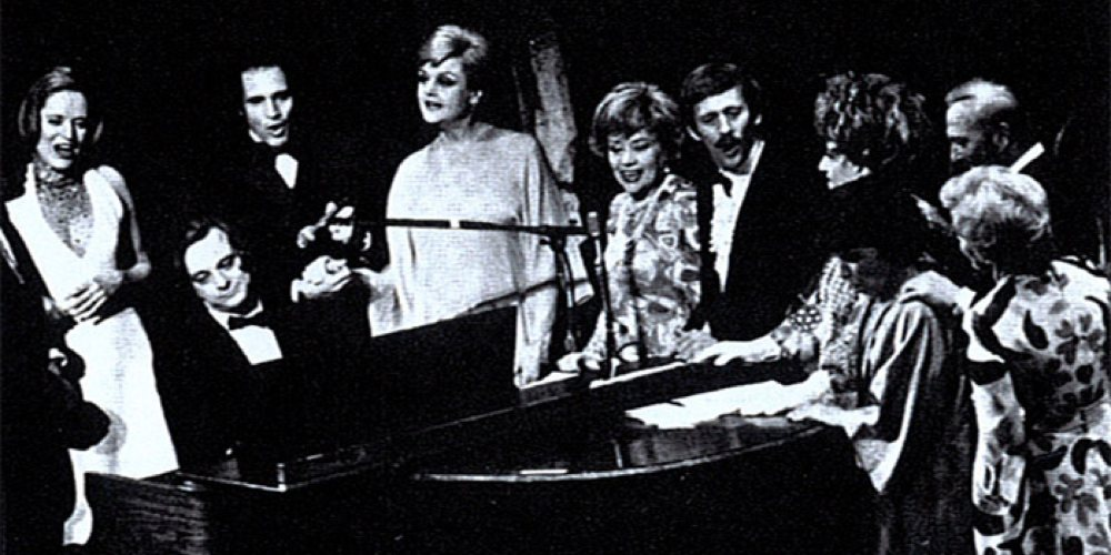 Sondheim: A Musical Tribute, an all-star tribute to Stephen Sondheim at the Shubert Theatre with Angela Lansbury and Hermióne Gingold.