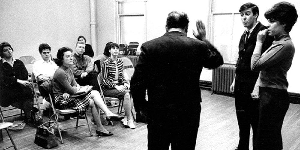 Scene rehearsals with David Martin and AMDA students in the Bleecker Street building. (1970)