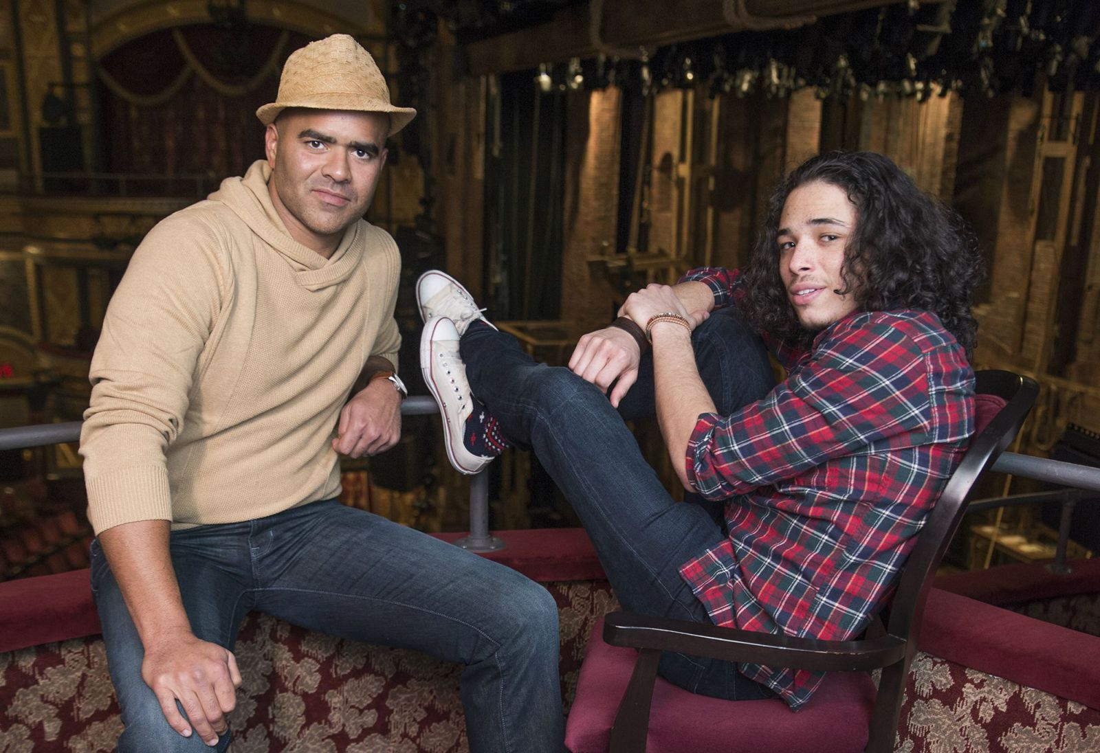 Christopher Jackson and Anthony Ramos
