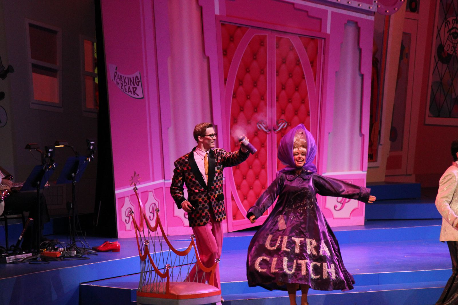 "Daniel And Tara Macri (Amber Von Tussle) during the number ""(It's) Hairspray!"""