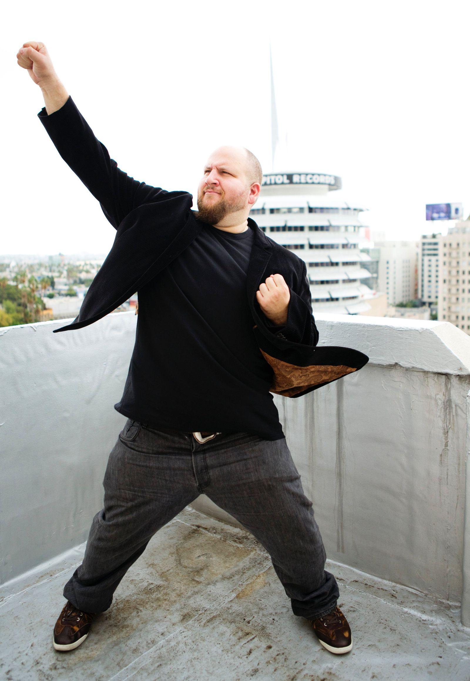 Stephen strikes a pose
