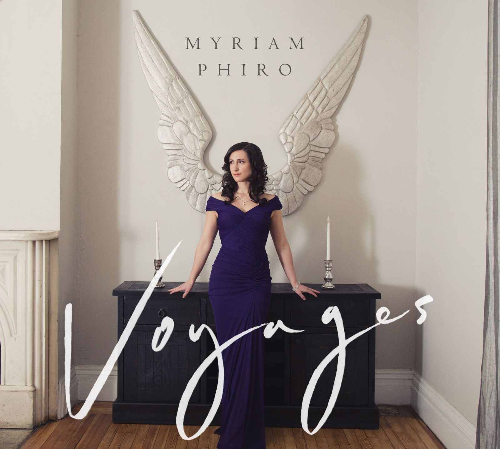 Cover art for Myriam Phiro's debut album Voyages