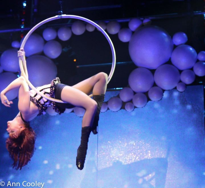 Aerial hoop girl- Molly Tynes as Lola Touche'