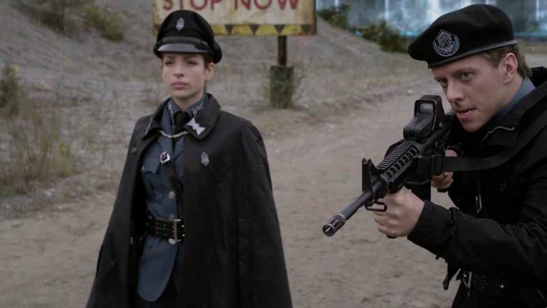 "Nyback as Sgt. Poole, along with Anna Hopkins as Jessica ""Berlin"" Rainier"