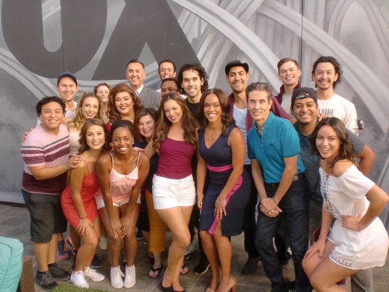 Cast with Good Day LA Co-Host Danya Bacchus.