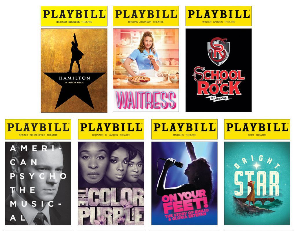 Playbills of Tony-nominated plays