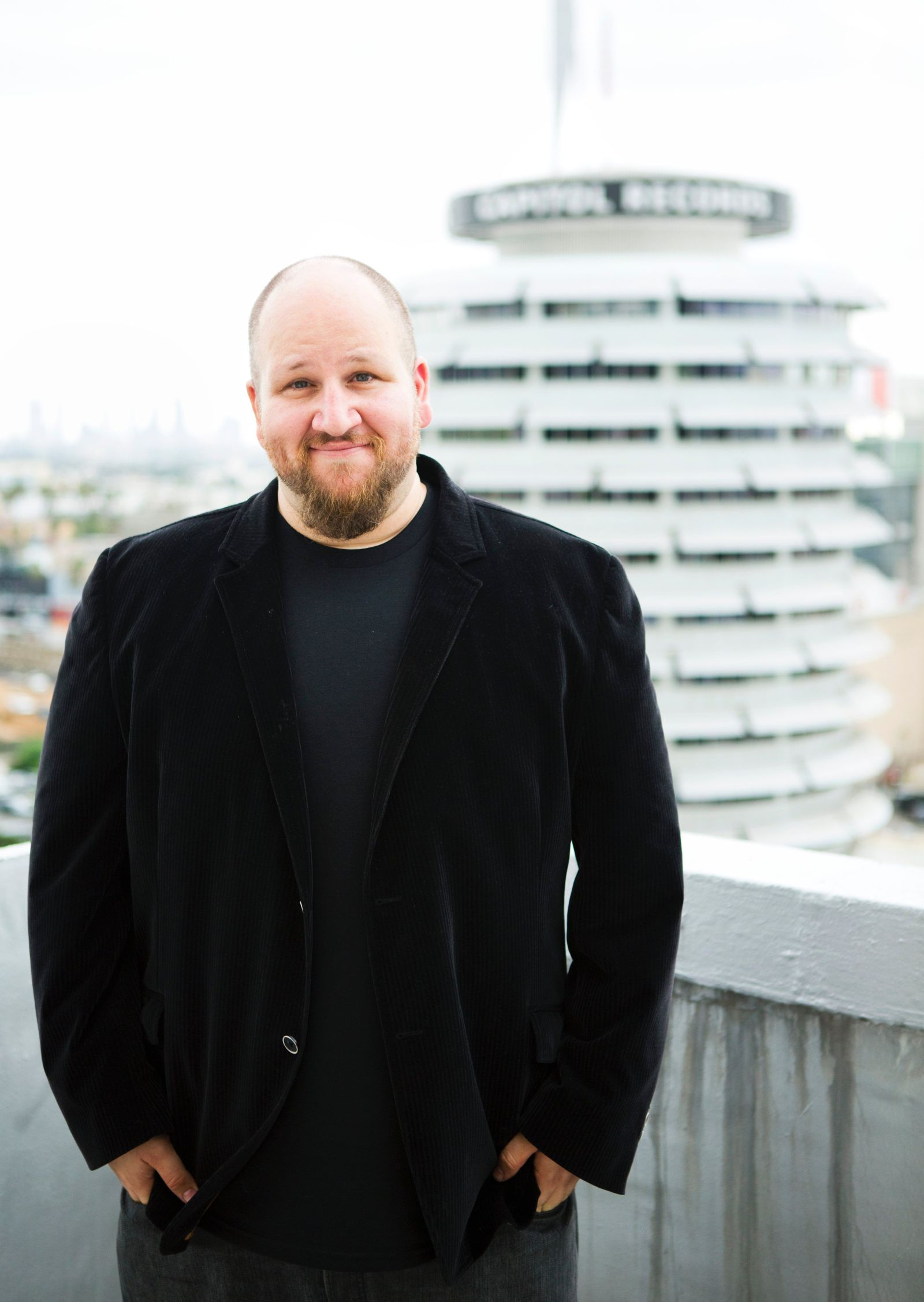 Stephen Kramer Glickman atop the AMDA Tower Building