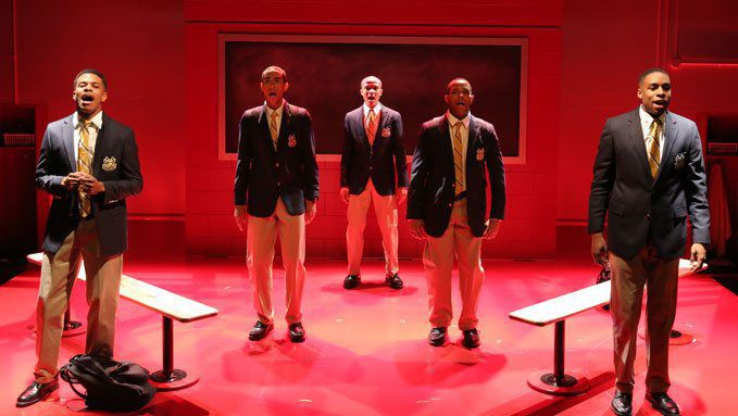 "AMDA alumnus Jeremy Pope (far left) in ""Choir Boy"""