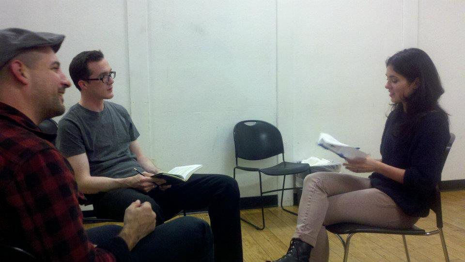 some girl(s) rehearsal with director Roger Del Pozo