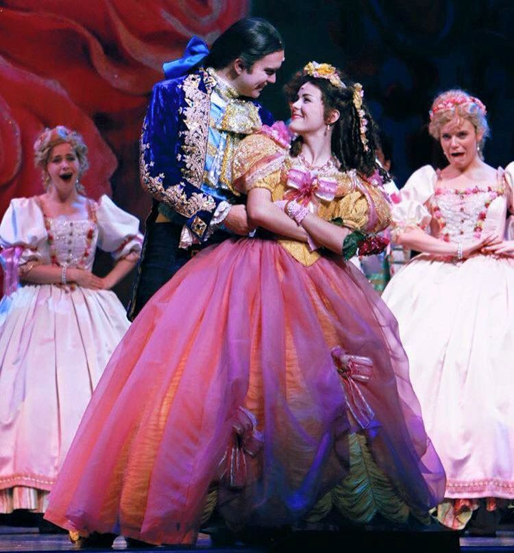 Briana Rapa with transformed Beast (Mark Beyer) in Beauty and the Beast