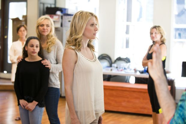 Caissie Levy rehearsing for First Daughter Suite
